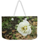 Garden Party Hybrid Tea Rose, White Rose Originally Produced By Weekender Tote Bag