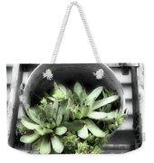 Garden Succulents Partial Color Weekender Tote Bag