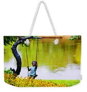 Garden Swing By The River Weekender Tote Bag