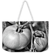 Garden Tomatoes In Black And White Weekender Tote Bag