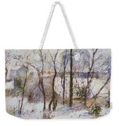 Garden Under Snow Weekender Tote Bag