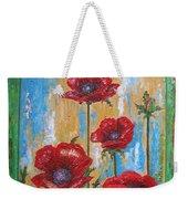 Gardens Poppy Weekender Tote Bag
