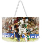 Gareth Bale Celebrates His Goal  Weekender Tote Bag
