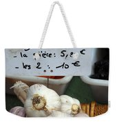 Garlic And Dried Apricots For Sale Weekender Tote Bag