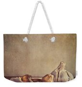 Garlic Cloves Weekender Tote Bag by Priska Wettstein