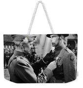 Gary Cooper Getting A Medal Of Honor As Sergeant York 1941 Weekender Tote Bag