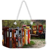 Gas Pump Conga Line In New Mexico Weekender Tote Bag