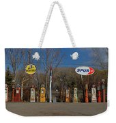 Gas Pumps And Gas Signs Panorama Weekender Tote Bag