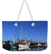 Glassy Harbor Reflection Weekender Tote Bag