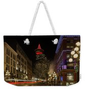 Gastown In Vancouver Bc At Night Weekender Tote Bag