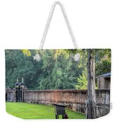 Gate And Brick Wall At Shiloh Cemetery Weekender Tote Bag