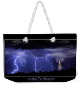 Gates To Heaven Color Poster Weekender Tote Bag