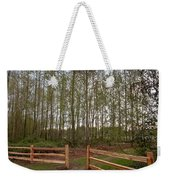 Gates To The Birch Wood Weekender Tote Bag