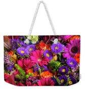 Gathered Garden Flowers Weekender Tote Bag