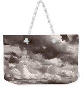Gathering Clouds Over Lake Geneva Bw Weekender Tote Bag