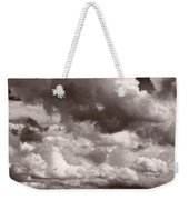 Gathering Clouds Over Lake Geneva Bw Weekender Tote Bag