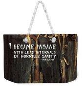Hallowed Gathering Quote Weekender Tote Bag