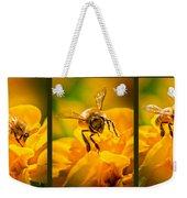 Gathering Pollen Triptych Weekender Tote Bag