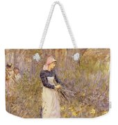 Gathering Wood For Mother Weekender Tote Bag