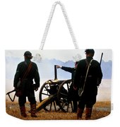 Gatling Gun On The Battle Field Weekender Tote Bag