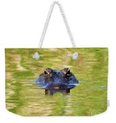 Gator In The Green - Digital Art Weekender Tote Bag