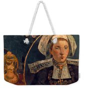 Gaugin: Belle Angele, 1889 Weekender Tote Bag