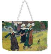Gauguin: Breton Girls, 1888 Weekender Tote Bag