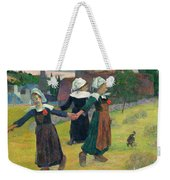 Gauguin, Breton Girls, 1888 Weekender Tote Bag