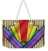 Rainbow Art Deco Weekender Tote Bag