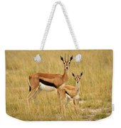 Gazelle Mother And Child Weekender Tote Bag