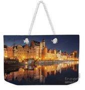 Gdansk By Night Weekender Tote Bag