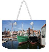 Gdansk Old Town Skyline From The Harbour Weekender Tote Bag