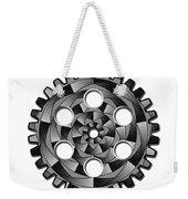 Gearwheel In Black And White Weekender Tote Bag