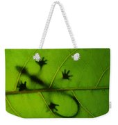 Gecko On A Leaf Weekender Tote Bag