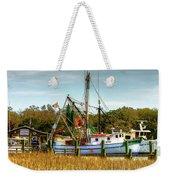 Geechie Seafood Shrimp Boats Weekender Tote Bag