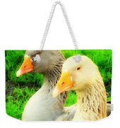 Geese Have Strong Affections For Others In Their Group Weekender Tote Bag