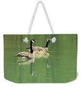 Geese And Babies Weekender Tote Bag