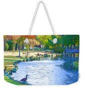 Geese In Pond 3 Weekender Tote Bag
