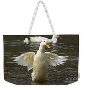 Geese In The Water Weekender Tote Bag