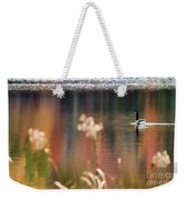 Geese Lake Fall Weekender Tote Bag