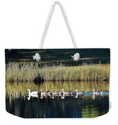 Geese Mother And Young Weekender Tote Bag