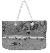 Geese On A Rainy Day Weekender Tote Bag