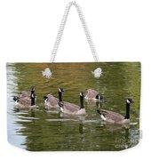 Geese On Pond Weekender Tote Bag