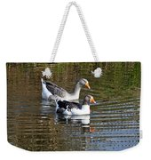 Geese On The Canal   Weekender Tote Bag