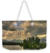 Geese Over Jericho Lake Weekender Tote Bag