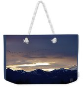 Geese Over The Cascades Weekender Tote Bag