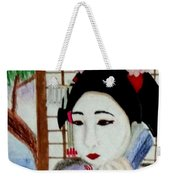 Geisha Girl Weekender Tote Bag