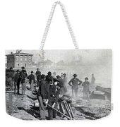 Gen Shermans Troops Destroying Railroad Before The Evacuation Of Atlanta - C 1864 Weekender Tote Bag