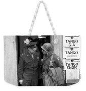 General Eisenhower And General Ridgway  Weekender Tote Bag by War Is Hell Store