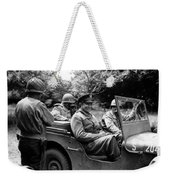 General Eisenhower In A Jeep Weekender Tote Bag